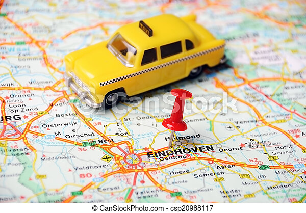 Eindhoven,holland map taxi. Close up of eindhoven , netherlands map ...