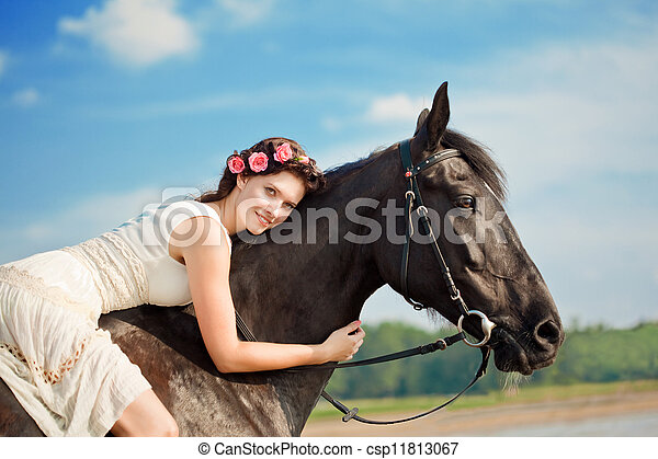 Pferd und frau