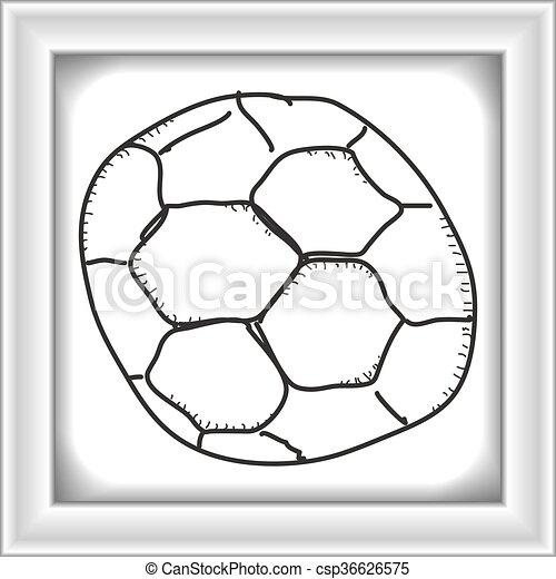 Einfache Gekritzel Fussball Gezeichnet Hand
