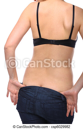 Frau beim ausziehen
