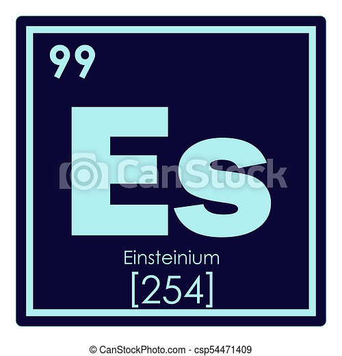Einsteinium Chemical Element Periodic Table Science Symbol