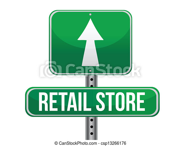 einzelhandelsgeschäft, straße zeichen - csp13266176