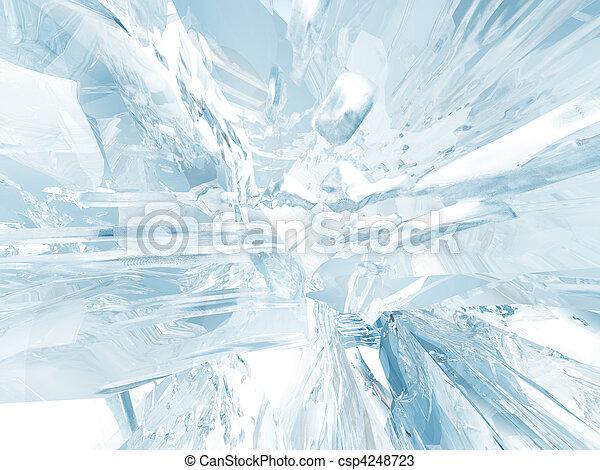 Eis Hintergrund - csp4248723