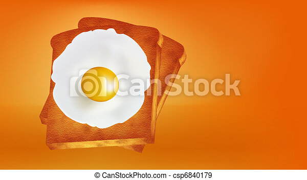eitjes, gebraad brood - csp6840179