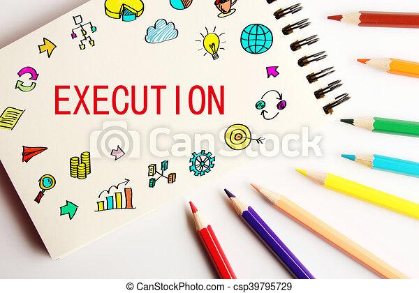 Concepto de negocios de ejecución - csp39795729