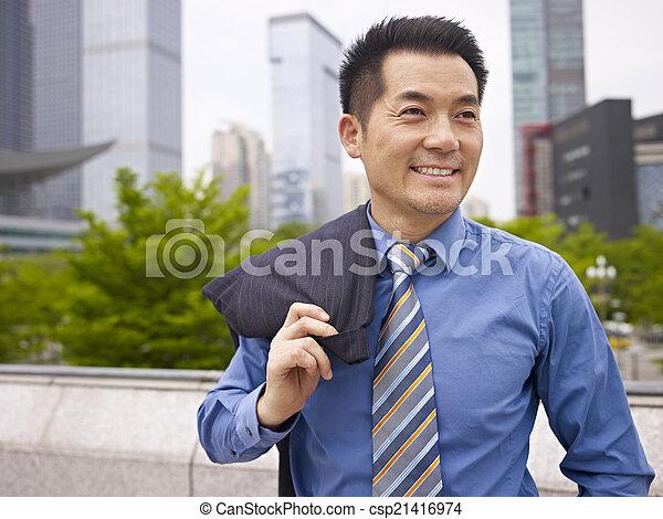 ejecutivo, negocio asiático - csp21416974