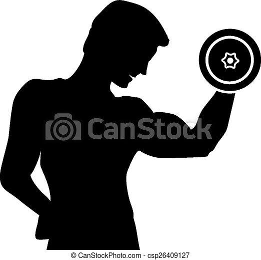 silueta de hombre haciendo ejercicio