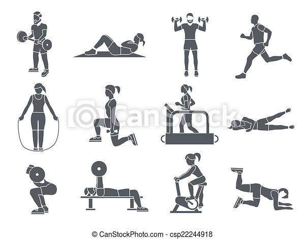 El deporte deportivo ejerce iconos - csp22244918