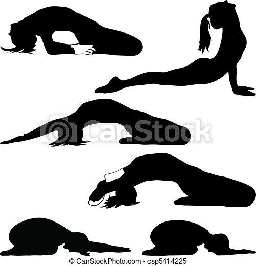 Yoga - una variedad de ejercicios - csp5414225