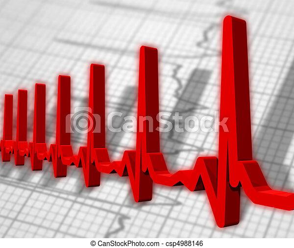 Ekg/ecg pulse diagram - csp4988146