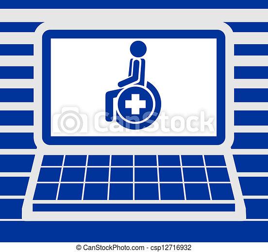ekran, medyczny, karta - csp12716932