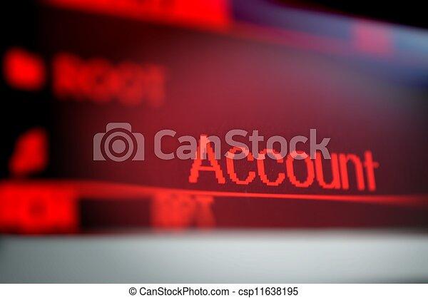 ekran, słowo - csp11638195