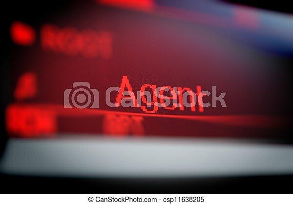 ekran, słowo - csp11638205