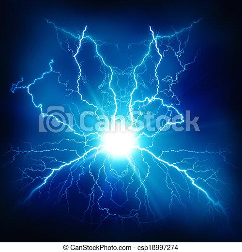 Efecto de iluminación eléctrica, antecedentes tecnológicos abstractos para tu diseño - csp18997274
