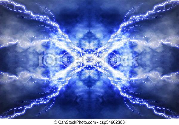 Efecto de iluminación eléctrica, antecedentes tecnológicos abstractos - csp54602388
