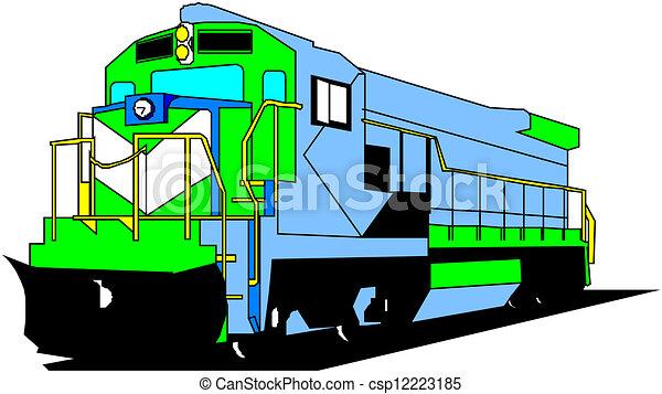 Locomotora eléctrica - csp12223185