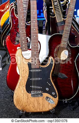 elétrico, guitars. - csp13501076