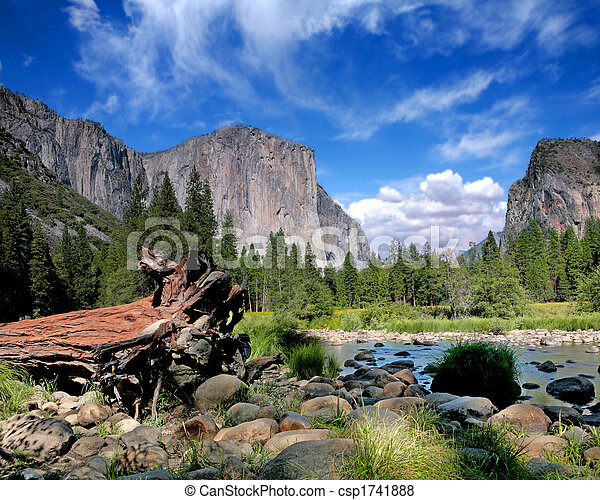 El Capitan View in Yosemite Nation Park - csp1741888