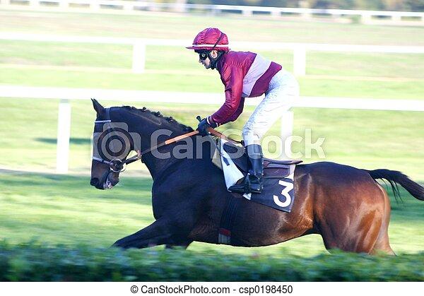 el competir con del caballo - csp0198450