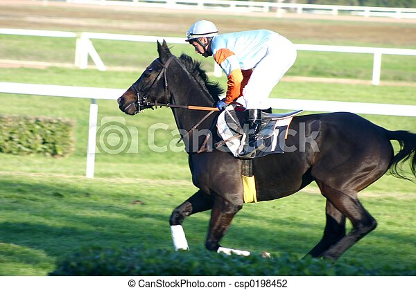 Carreras de caballos - csp0198452