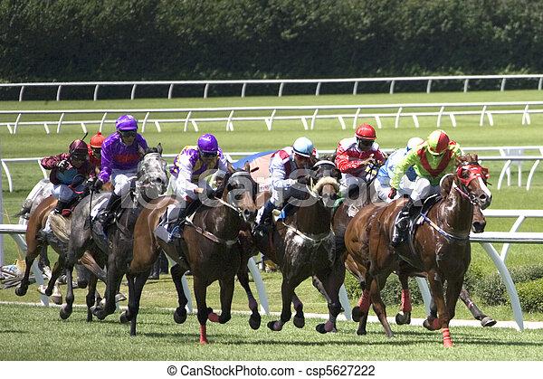 el competir con del caballo - csp5627222