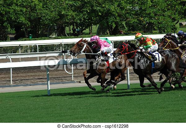 el competir con del caballo - csp1612298