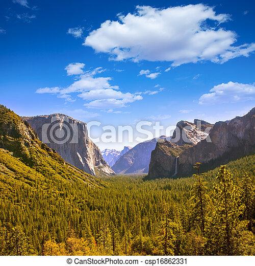 el, dôme, californie, capitan, moitié, yosemite - csp16862331