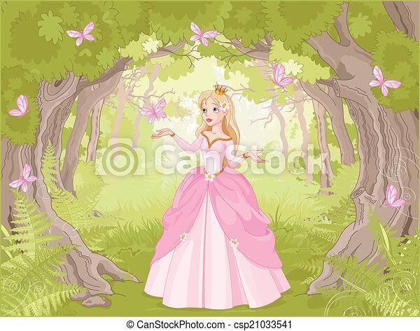 La princesa paseando en lo fantástico - csp21033541