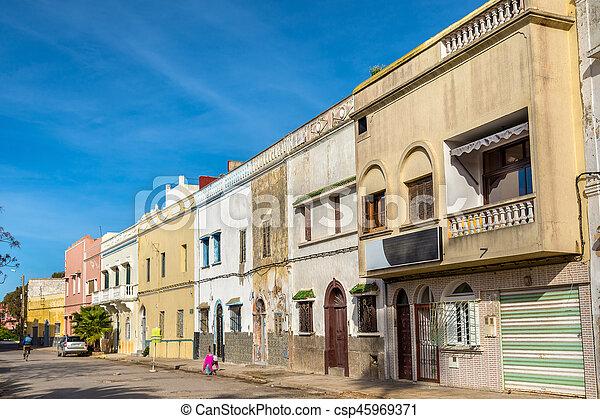 Edificios en el jadida, Marruecos - csp45969371