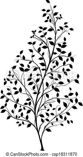 el, gráfico, silueta, árvore, -, vetorial - csp18311870