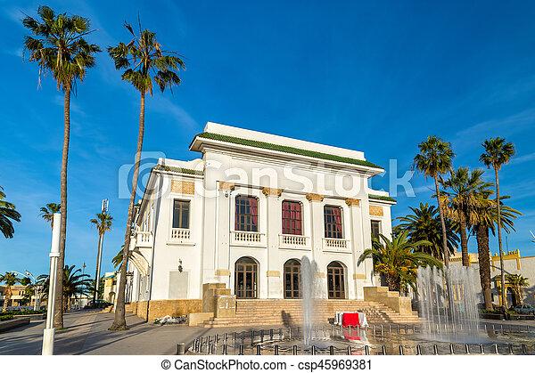 Teatro municipal en el jadida, Marruecos - csp45969381