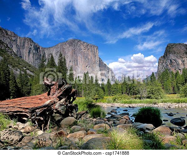 el, parque, nação, capitan, vista, yosemite - csp1741888
