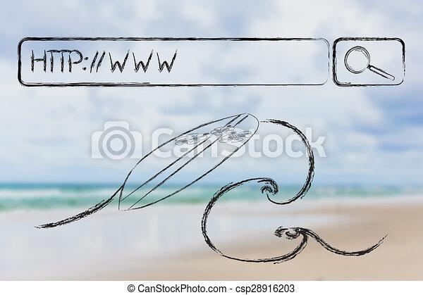 Surfeando la web - csp28916203