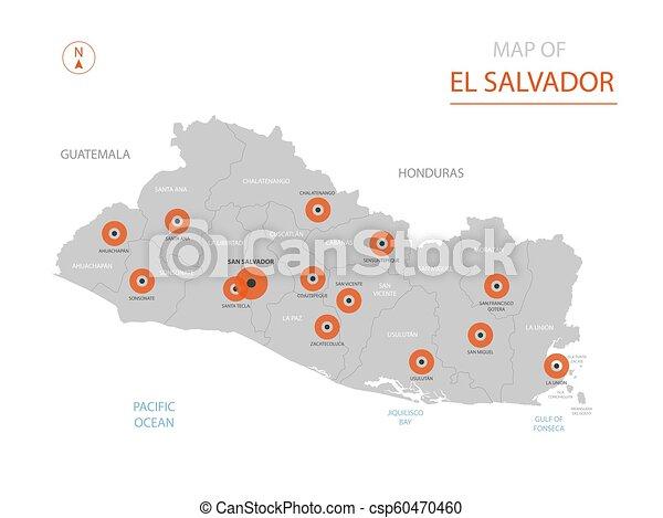 El Salvador map with administrative divisions. on map of isla margarita, map of campinas, map of san pedro de atacama, map of bissau, map of guatemala, map of regions of brazil, map of culiacan, map of south of the border, map of san pedro de macoris, map of asunción, map of ciudad del este, map of pereira, map of san pedro la laguna, map of central america, map of ilhabela, map of antarctic sound, map of sunset boulevard, map of la serena, map of honduras, map of san cristobal de las casas,