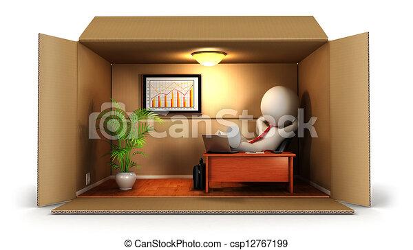 Los blancos de 3D abren su negocio - csp12767199