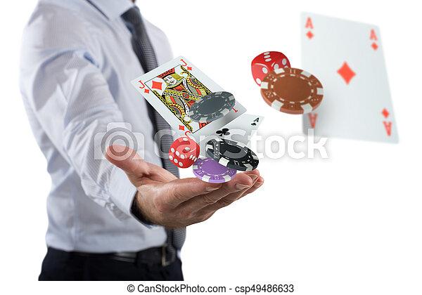 El jugador hace su apuesta - csp49486633