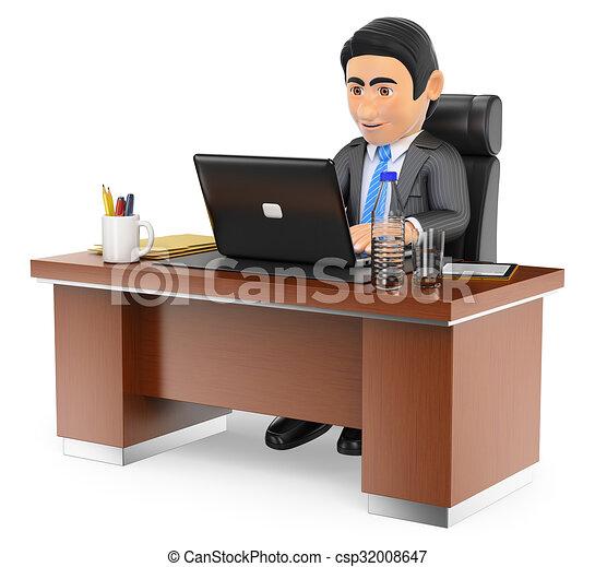 Dibujo de el suyo oficina de trabajo computador portatil for Oficina de trabajo de la generalitat