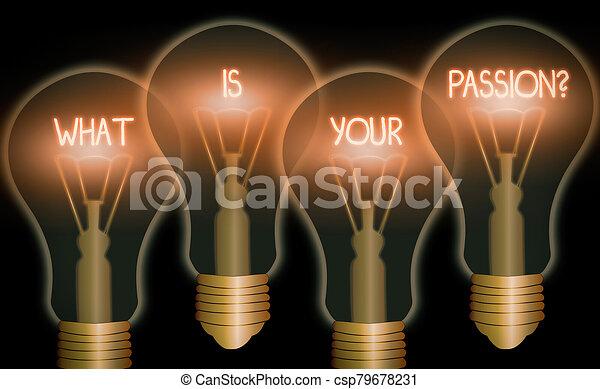 el suyo, question., concepto, preguntar, escritura, qué, significado, fuerte, texto, escritura, su, pasión, barely, sobre, controllable, emotion. - csp79678231