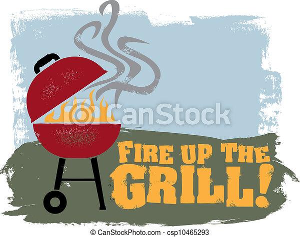 elbocsát, grill!, feláll, kerti-parti - csp10465293