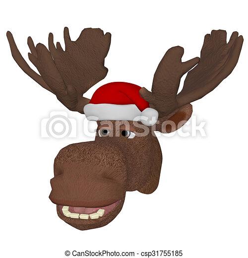 elch kappe weihnachten karikatur reizend elch. Black Bedroom Furniture Sets. Home Design Ideas