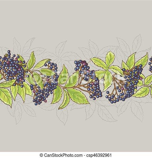 elderberry seamless pattern - csp46392961