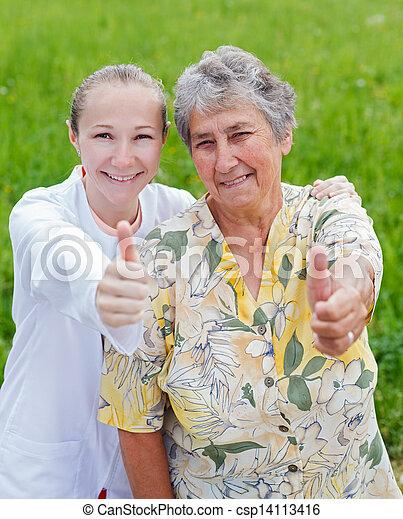 Elderly care - csp14113416