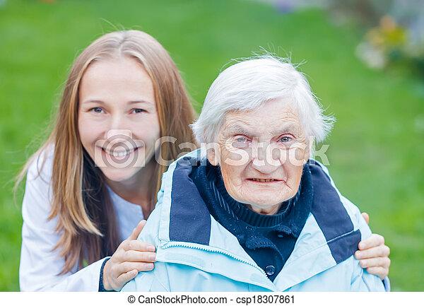 Elderly care - csp18307861