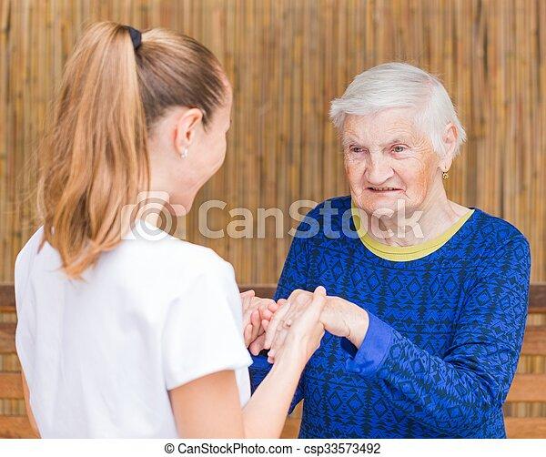 Elderly care - csp33573492