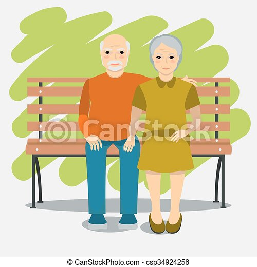 Elderly couple and healthy lifestyl - csp34924258