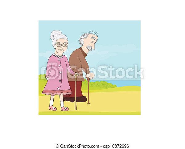 elderly couple - csp10872696