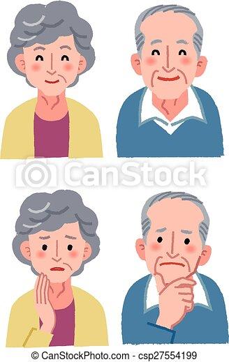 Elderly couple expression - csp27554199