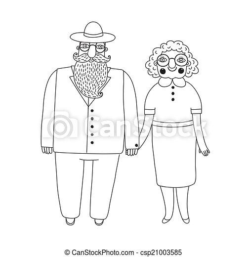 Elderly couple. Grandparents. - csp21003585