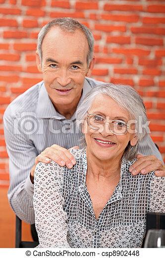 elderly couple - csp8902448