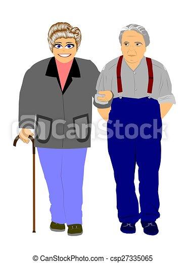 elderly couple - csp27335065